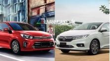 So sanh xe KIA Soluto 2019 va Honda City 2019