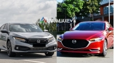 So sanh xe Honda Civic va Mazda 3 2020 ban cao cap