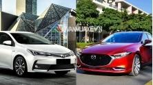 So sanh xe Toyota Altis 2019 va Mazda 3 2020 moi tai Viet Nam