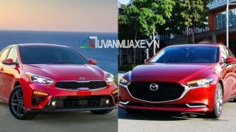 So sanh xe KIA Cerato 2020 va Mazda 3 2020 moi tai Viet Nam