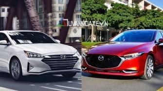 So sanh xe Hyundai Elantra 2020 va Mazda 3 2020 moi tai Viet Nam
