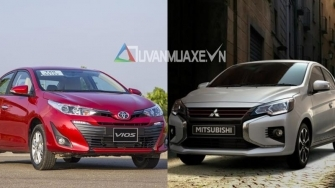 So sanh xe Toyota Vios 2020 va Mitsubishi Attrage 2020 moi