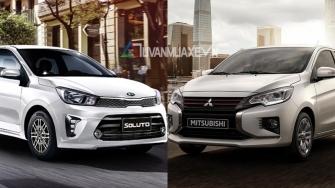 So sanh xe KIA Soluto 2020 va Mitsubishi Attrage 2020 moi