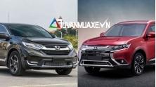 So sanh xe 7 cho Honda CR-V va Mitsubishi Outlander 2020 moi