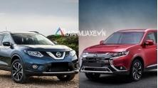So sanh xe Nissan X-Trail va Mitsubishi Outlander 2020 moi