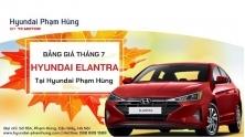 Bang gia Hyundai Elantra thang 7