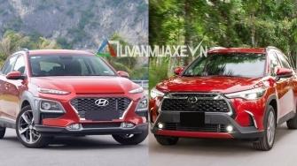 So sanh xe Hyundai Kona va Toyota Corolla Cross moi