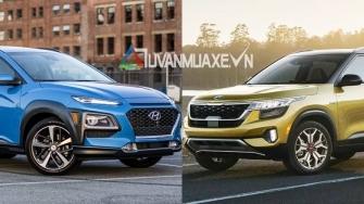 So sanh xe Hyundai Kona va KIA Seltos 2020 moi tai Viet Nam