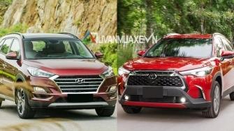 So sanh xe Hyundai Tucson va Toyota Corolla Cross 2020