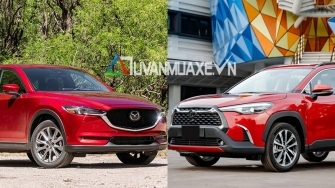 So sanh xe Mazda CX-5 va Toyota Corolla Cross 2020 moi