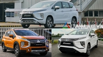 So sanh phien ban xe Mitsubishi Xpander MT, AT va Xpander Cross