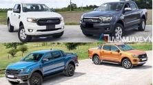 So sanh trang bi cac phien ban Ford Ranger 2020 moi