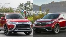 So sanh xe Mitsubishi Outander 2020 va Honda CR-V 2020