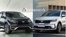 So sanh xe Honda CR-V va KIA Sorento 2021 moi