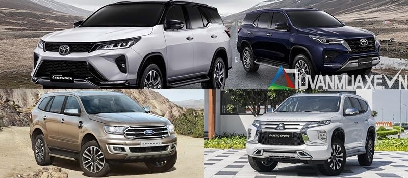 Gia xe SUV 7 cho - Everest, Pajero Sport, Fortuner 2021