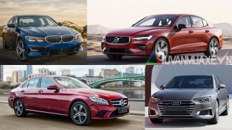 So sanh Audi A4, BMW 3-Series, Mercedes C-Class, Volvo S60 2021