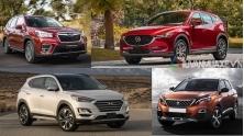 So sanh Mazda CX5, Hyundai Tucson, Subaru Forester, Peugeot 3008