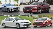 So sanh gia xe sedan 1 ty - Camry, LUX A2.0, Mazda6, Accord
