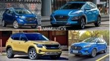 So sanh SUV 5 cho 600 trieu - Seltos, Kona, ZS, EcoSport 2021