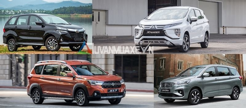 So sanh xe 7 cho gia 600 trieu - Xpander, Ertiga, Avanza, XL7