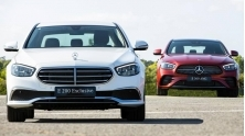 So sanh khac biet Mercedes E 200 Exclusive 2021 va E 300 AMG 2021