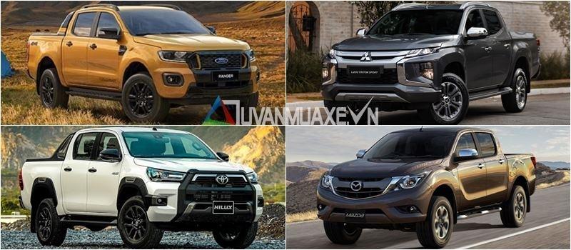 Mua xe ban tai 2021 - Ranger, Hilux, Triton, BT-50, D-Max, Navara