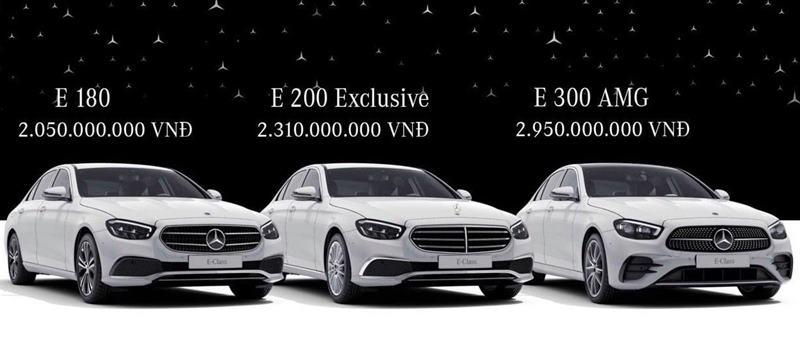 Mercedes E 180 2021 co gia ban 2.050 ty dong tai Viet Nam