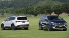 So sanh xe Hyundai SantaFe 2021 voi CR-V, CX-8, Sorento, Outlander