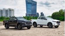 So sanh gia xe Mazda BT-50 2021 voi Ranger, Triton, Navara, Hilux