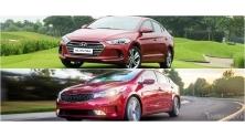 So sanh Hyundai Elantra 2016 va Kia Cerato 2016 phien ban cao cap
