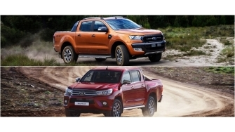 So sanh Ford Ranger 2016 va Toyota Hilux 2016 phien ban cao cap