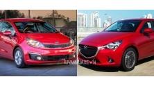 So sanh xe Mazda 2 va Kia Rio Sedan 2016