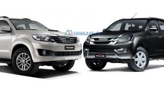 So sanh xe Toyota Fortuner va Isuzu MU-X 2016 ban may dau 2.5MT