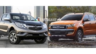 So sanh xe Ford Ranger va Mazda BT-50 2016