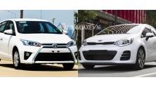 So sanh xe Kia Rio Hatchback va Toyota Yaris 2016