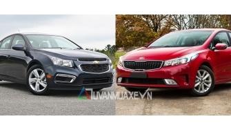 So sanh xe Chevrolet Cruze va Kia Cerato 2016