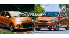So sanh xe Hyundai Grand i10 va Mitsubishi Mirage