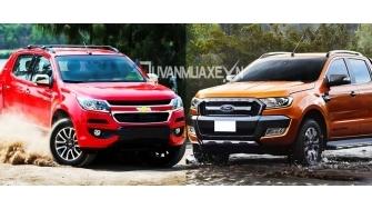So sanh xe Ford Ranger va Chevrolet Colorado 2017 ban cao cap