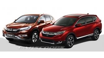 So sanh xe Honda CR-V 2017 va phien ban cu