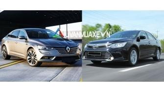 So sanh xe Toyota Camry va Renault Talisman 2017