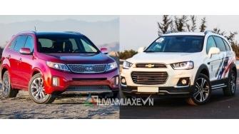 So sanh xe Kia Sorento va Chevrolet Captiva 2016