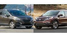 So sanh xe Peugeot 3008 va Honda CR-V 2016