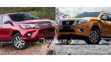 So sanh xe Nissan Navara va Toyota Hilux 2016-2017 ban cao cap