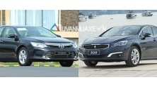 So sanh xe Toyota Camry va Peugeot 508 gia ban 1,4 ty dong