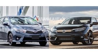 So sanh xe Toyota Altis va Honda Civic 2017