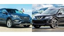 So sanh xe Hyundai SantaFe va Nissan X-Trail 2017