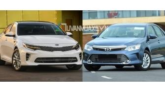 So sanh xe Toyota Camry va Kia Optima 2017