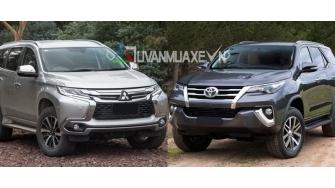 So sanh xe Toyota Fortuner 2017 va Mitsubishi Pajero Sport 2017