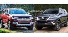 So sanh xe Ford Everest va Toyota Fortuner 2017