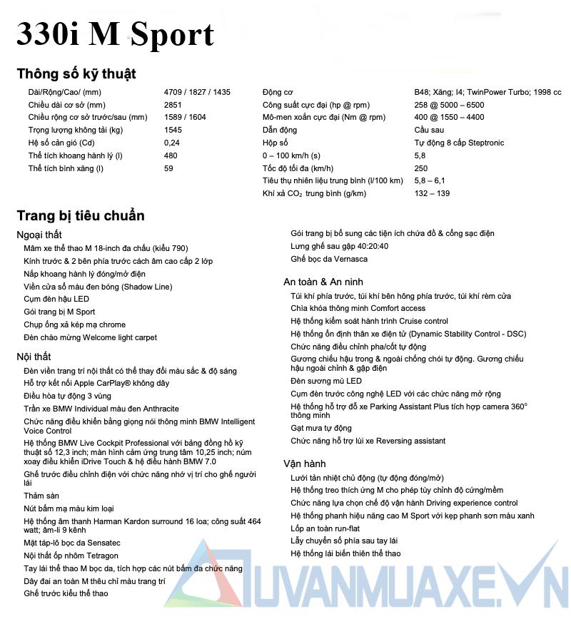 Những thay đổi nâng cấp mới trên BMW 330i M Sport 2020 tại Việt Nam - Ảnh 8